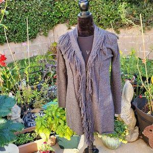 Fenn Wright Manson 100% wool fringed jacket, XS